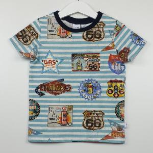 shirt route66 blauw