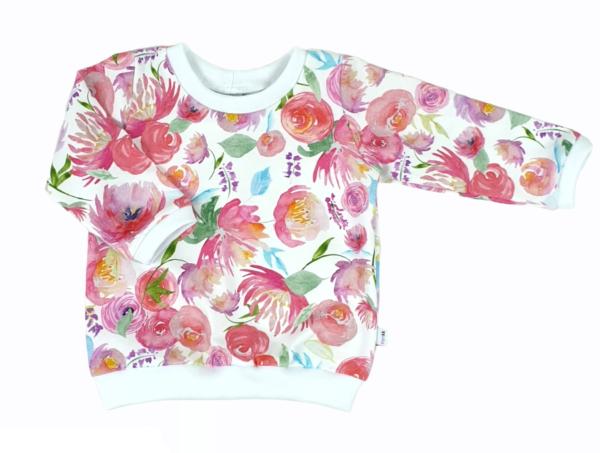 shirt roze bloemen