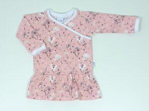 jurkje roze met bloemetjes en vogeltje